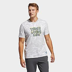 Men's adidas Three Stripe Life Tie-Dye Graphic T-Shirt