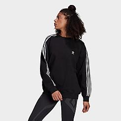 Women's adidas Originals Oversized 3-Stripes Crewneck Sweatshirt