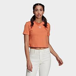 Women's adidas Originals Adicolor Roll-Up Crop T-Shirt