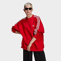 Women's adidas Originals Oversized 3-Stripes Crew Sweatshirt