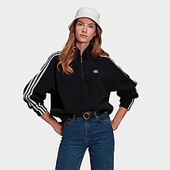 Women's adidas Originals Adicolor Classics Polar Fleece Half-Zip Sweatshirt