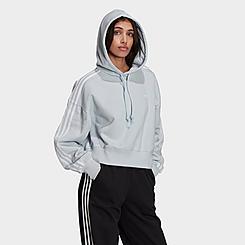 Women's adidas Originals Adicolor Classics Trefoil Crop Hoodie