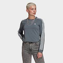 Women's adidas Originals Adicolor Classics 3-Stripes Long-Sleeve T-Shirt
