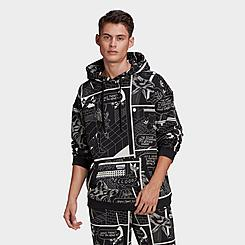 Men's adidas Originals R.Y.V. Allover Print Graphic Hoodie