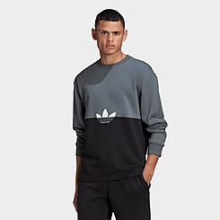 Men's adidas Originals Adicolor Sliced Trefoil Crewneck Sweatshirt