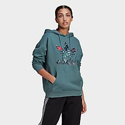 Women's adidas Originals Embroidered Logo Crop Hoodie