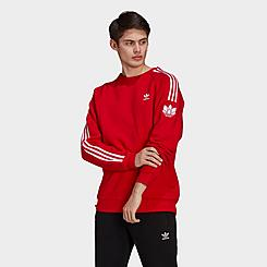 Men's adidas Adicolor 3D Trefoil 3-Stripes Crewneck Sweatshirt