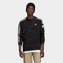 Men's adidas Originals LOUNGEWEAR Adicolor 3D Trefoil 3-Stripes Crewneck Sweatshirt