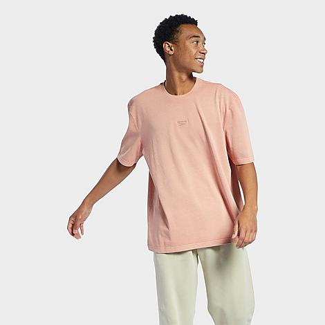 Reebok Men's Natural Dye T-Shirt in Pink/Baked Earth Size Small Cotton/Jersey Size & Fit Loose fit is oversized and roomy Product Features Cotton construction for a study yet comfortable feel Rounded, ribbed neckband Neutral tones made from natural dye 100% organic cotton single jersey Machine wash The Reebok Natural Dye T-Shirt is imported. Root your look in Reebok when you step out in the Men's Reebok Natural Dye T-Shirt. Sturdy cotton and natural pigments team up on this fresh take. Size: Small. Color: Pink. Gender: male. Age Group: adult. Material: Cotton/Jersey. Reebok Men's Natural Dye T-Shirt in Pink/Baked Earth Size Small Cotton/Jersey