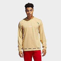 Men's adidas Originals Linear Logo Repeat Long-Sleeve T-Shirt