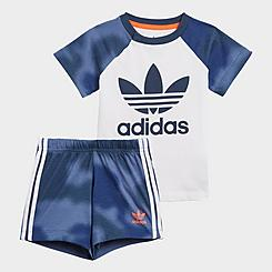 Infant and Toddler adidas Originals Camo Print T-Shirt and Shorts Set