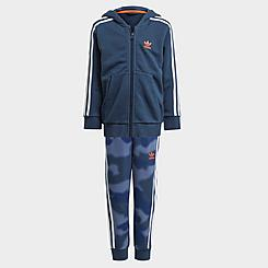 Boys' Toddler and Little Kids' adidas Originals Full-Zip Hoodie and Camo Print Jogger Pants Set