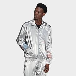 Men's adidas Originals Adicolor Tricolor Metallic Track Jacket
