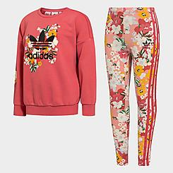 Girls' Toddler and Little Kids' HER Studio London Floral Crewneck Sweatshirt and Leggings Set