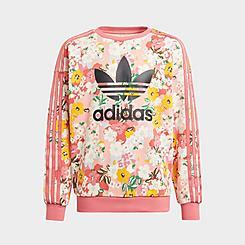 Girls' adidas Originals HER Studio London Floral Crewneck Sweatshirt