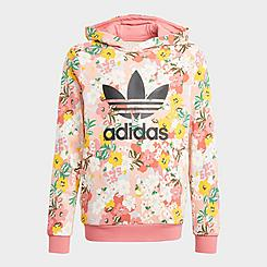 Girls' adidas Originals HER Studio London Floral Pullover Hoodie