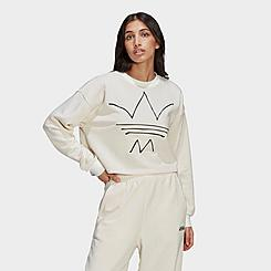 Women's adidas Originals R.Y.V. Crop Crewneck Sweatshirt