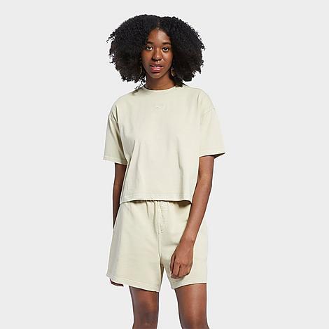 Reebok T-shirts REEBOK WOMEN'S CLASSICS NATURAL DYE CROPPED T-SHIRT