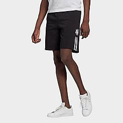 Men's adidas Originals Adicolor 3D Trefoil 3-Stripes Sweat Shorts