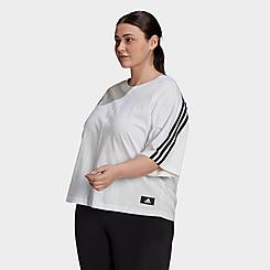 Women's adidas Sportswear Future Icons 3-Stripes T-Shirt (Plus Size)