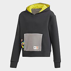 Girls' Big Kids' adidas x Classic Lego® Bricks Boxy Pullover Hoodie