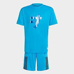 Boys' Little Kids' and Big Kids' adidas x LEGO® NINJAGO® Jay T-Shirt and Shorts Set