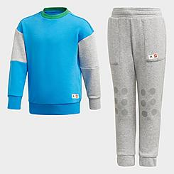 Big Kids' adidas x Classic Lego® Crewneck Sweatshirt and Jogger Pants Training Set