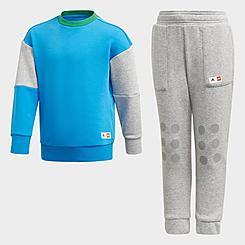 Big Kids' adidas x Classic Lego® Crewneck Sweatshirt and Jogger Pants Training Set