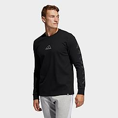 Men's adidas Geo Repeat Logo Long-Sleeve T-Shirt