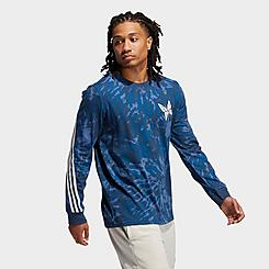 Men's adidas Summer Sport Tie-Dye Graphic Long-Sleeve T-Shirt