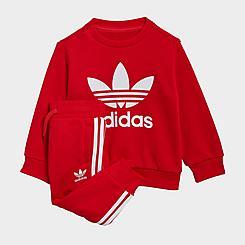 Infant and Kids' Toddler adidas Originals Crew Sweatshirt and Jogger Pants Set