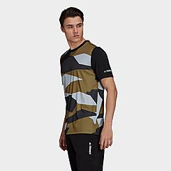 Men's adidas Terrex Allover Print Primegreen T-Shirt