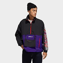 Men's adidas Originals Lunar New Year Half-Zip Windbreaker Jacket