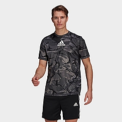 Men's adidas Designed 2 Move Camouflage Graphic AEROREADY T-Shirt