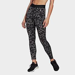 Women's adidas Sportswear Leopard Print Cotton Leggings