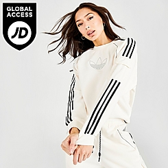 Women's adidas Originals Mixed Material Crewneck Sweatshirt