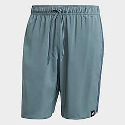 Men's adidas Classic-Length 3-Stripes Swim Shorts