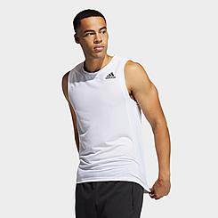 Men's adidas AEROREADY 3-Stripes Primeblue Tank