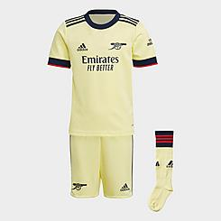 Boys' Toddler adidas 21/22 Arsenal FC Away Mini Kit