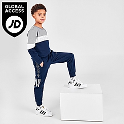 Boys' Toddler and Little Kids' adidas Originals Sport 2.0 Crew Sweatshirt and Jogger Pants Set
