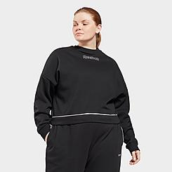 Women's Reebok Piping Crewneck Sweatshirt (Plus Size)