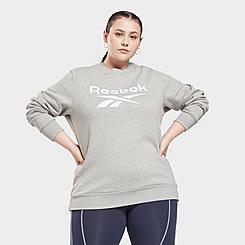 Women's Reebok Identity Logo Fleece Crewneck Sweatshirt (Plus Size)