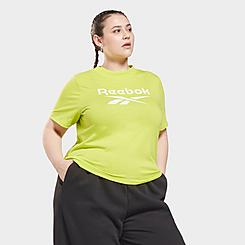 Women's Reebok Identity Cropped T-Shirt (Plus Size)