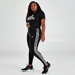Women's adidas Essentials 3-Stripes Leggings (Plus Size)