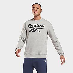 Men's Reebok Identity Fleece Vector Crewneck Sweatshirt