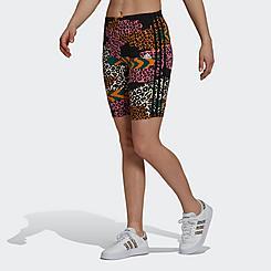Women's adidas Essentials FARM Rio 3-Stripes Biking Shorts