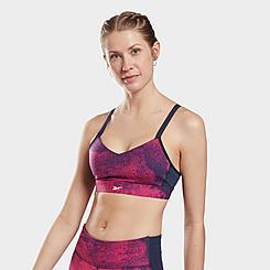 Women's Reebok Lux Strappy Medium-Support Sports Bra