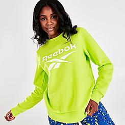 Women's Reebok Identity Logo Fleece Crew Sweatshirt