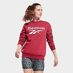 Women's Reebok Identity Big Logo Fleece Crewneck Sweatshirt