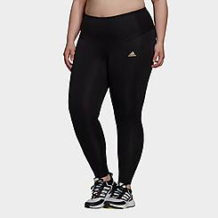 Women's adidas Feelbrilliant Designed To Move Twinkle Cropped Training Tights (Plus Size)